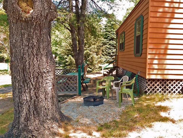 Silver Lake Park Campground Cabin Rental Exterior