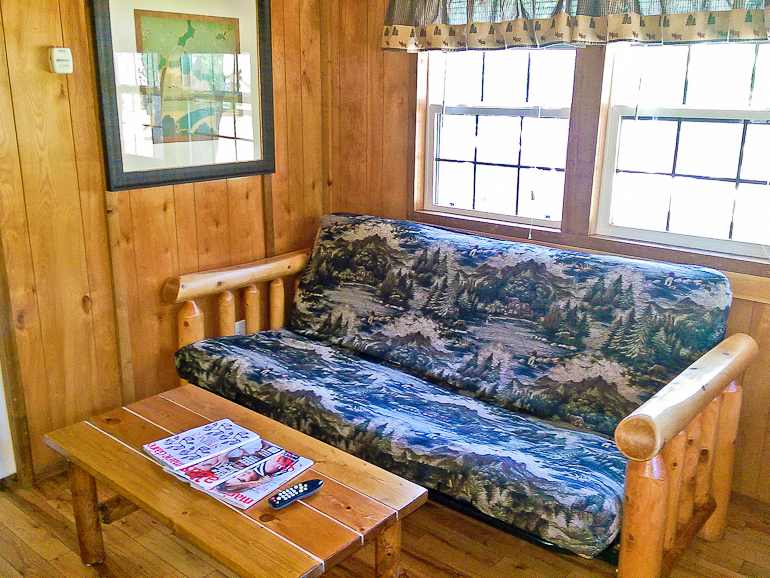 Silver Lake Park Campground Cabin Rental Living Room