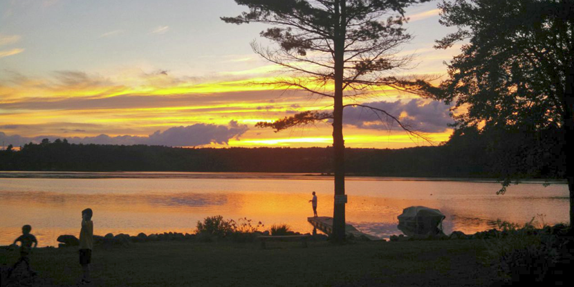 Sunset at Silver Lake Campground