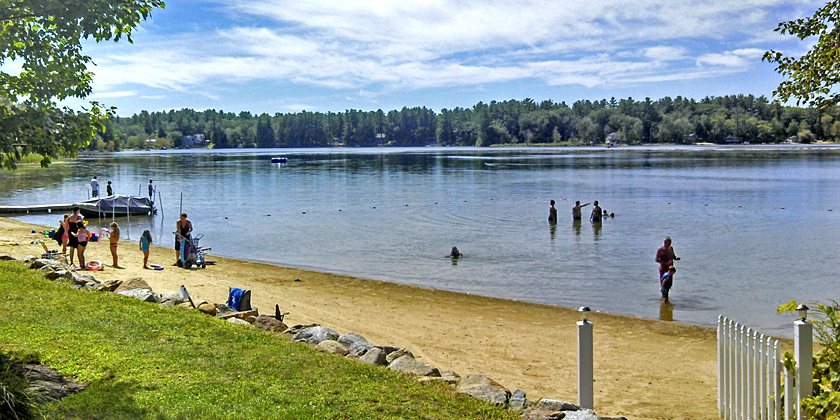 Swimming Beach at Silver Lake Park Campground