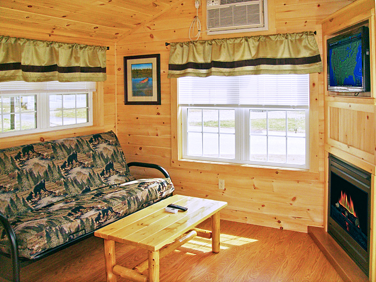 Lakeside Cabin Exterior · Lakeside Cabin Living Room ...