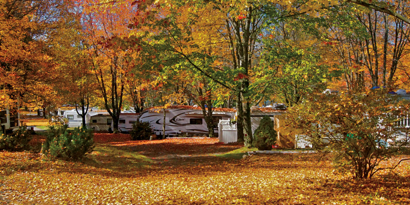 Autumn Campsites at Silver Lake Park Campground