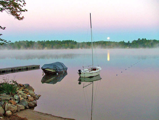 Silver Lake Park Campground in the early morning:fog